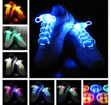 2016 Popular Men Women Light Up LED Shoelaces Party Glowing Night Running Shoe Laces Club Highlight Luminous Shoelace(China)