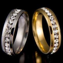 Never Fade  Gold Color 316l Stainless Steel Ring Titanium Steel Engagement Wedding Ring