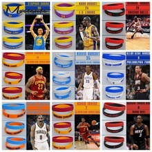 Meetcute 2PCS Popular Silicone Wristband Basketball Star Bracelet Rubber Hand Band Energy Bracelet Sports Wrist Strap