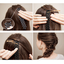M MISM Fashion Magic Easy Braid Women Wave Hair Disk Device Tress Korean Style Easy Use for Hair Style DIY Headwear Head bands(China)