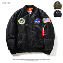 Fashion Baseball Jacket  Male Autumn Winter Short  Bomber Jackets Men Woman Air Force One Jacket Thick Warm cool Couple Coat