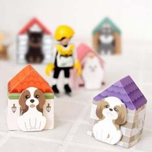 5 set/Lot  Cute dog small carton house sticky notes | cartoon N times posted | memo pad/post-it/school supplier