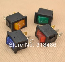 20pcs illuminated rocker switch with lamp 3 pins(China)