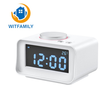 Multifunctional Electronic Alarm Manufacturers Selling Hotel Rooms Creative Decoration Simple LCD Mute USB Charging Alarm Snooze
