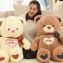 Stuffed Bear Doll plush Animals toys for girls hello bear Kawaii 130cm Plush Soft Teddy Bear Brinquedos For kids Valentine gifts(China)
