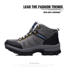 New mens outdoor shoes snow boots winter brand anti-skid mountain climbing boots breathable outdoor hiking shoes casual219