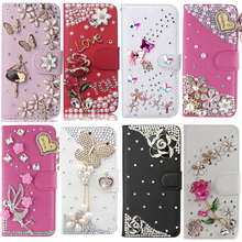 Phone Case For ZTE Axon 7 mini, Luxury Bling Diamond Flip Leather , Wallet Style Cover With Card Slot Phone Bag(China)