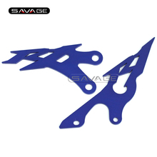 For YAMAHA YZFR1 YZF-R1 2009 2010 2011 2012 2013 2014 Blue Foot Peg Heel Plates Guard Protector Motorcycle Accessories(China)