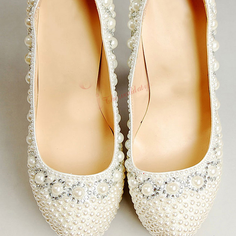 Spring Ivory Wedding Dress Shoes Pearl Bridal Shoes 12cm High Heel Woman Wedding Outfit Gorgeous Shoes Party Prom Shoes<br><br>Aliexpress
