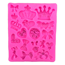 High Quality Crown Bowknot Love Cooking Tools Christmas Wedding Decoration Silicone Mold Fondant Cake Kitchen