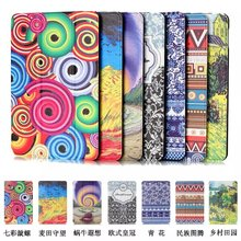 "Printed cover case Stand cover for Amazon kindle Fire 7 (new 2015 version) 7"" tablet smart cover for kindle 7 tablet skin+stylus(China)"