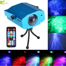 Kingoffer Blue Water Wave Effect Ripple Projector 3W Led Stage Light for Party Disco DJ Show Home Entertainment KTV Background