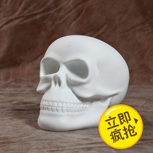 New Arrival Limited Quantity Skull DIY Paint Action Figure White Color With Opp Bag