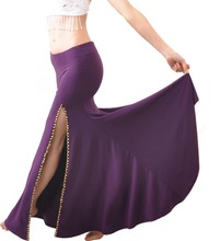 NEW Belly Dance Costume Professional Performances split Skirt Dress 9colors