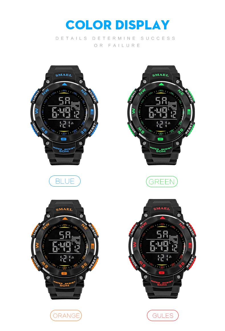 6.digital watch black