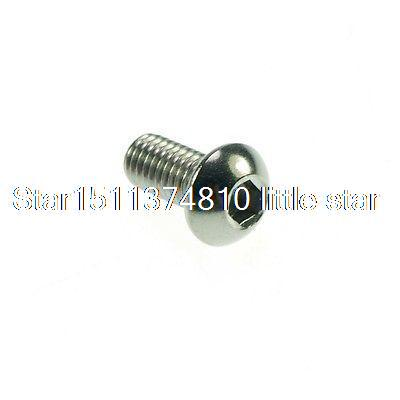 Lot100 Metric Thread M4*10mm Stainless Steel inside Round Hexagon Bolts Screws<br><br>Aliexpress