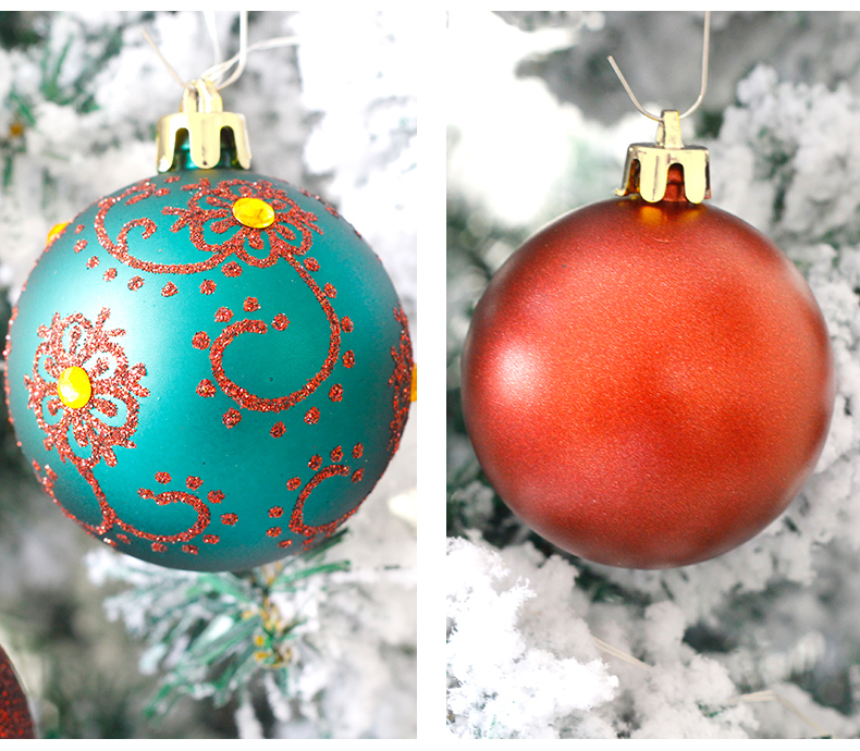 06 inhoo 6cm Christmas tree decorations Balls Ornaments Pendant 20pcs Red green white gold Ball Accessories For Home Xmas Party Hot