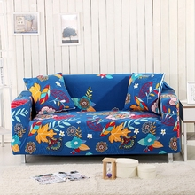 Blue Flowers L Shape Couch Slicpovers Universal Stretch Furniture Covers Loveseat Multi-size Elastic Corner Sofa Cover Anti-slip
