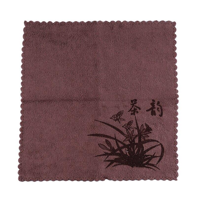 Nappe chinoise peinte à la main Table Drapeau thé Mat Pour Kung fu tea set tissus de lin