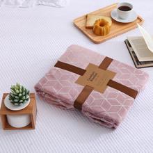 High Quality Flannel Fleece Blanket on The Bed Solid Winter Warm Travel Sofa Throw Blanket Super Soft Bed Cover Blanket