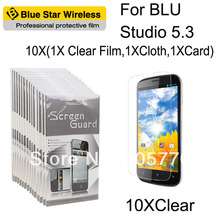 For BLU Studio 5.3 High Definition (HD) Clear Screen Protector Guard With Retail Package Protective Film Free Shipping(China)