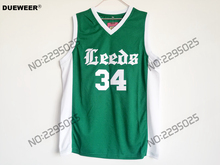 DUEWEER Mens Cheap Throwback Basketball Jersey Charles Barkley Jersey #34 Leeds High School Green Vintage Basketball Jerseys(China)