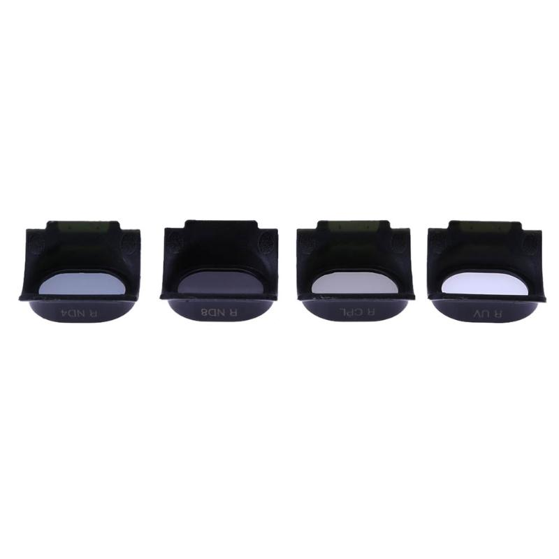 ALLOET Drone Camera Lens Filters 4pcs UV/CPL/ND4/ND8 Optical Glass Lens Filters for DJI Spark Drone