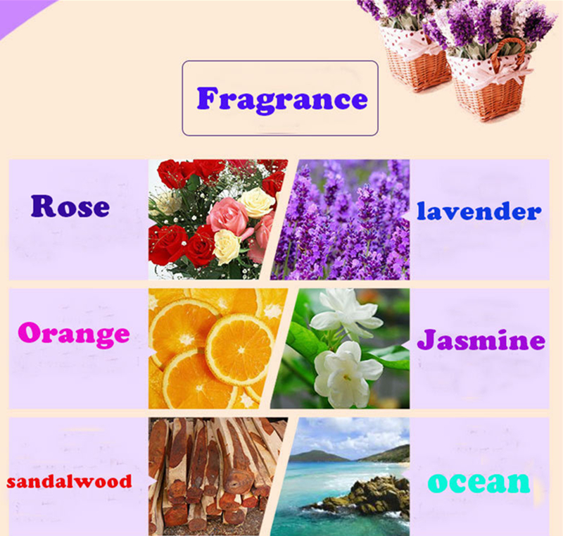 Dimollaure 12 Kinds of Fragrance Essential Oil Pack for DIY Aromatherapy Humidifier Fragrance lamp Purifying air Jasmine Oil 10