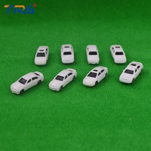 Teraysun scale 1:200 model kit car white color plastic miniature car model