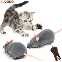 3 Colors Wireless Remote Control Mouse Toy Interactive Plush Electronic RC Rat Mice Funny Cat Toy(China)