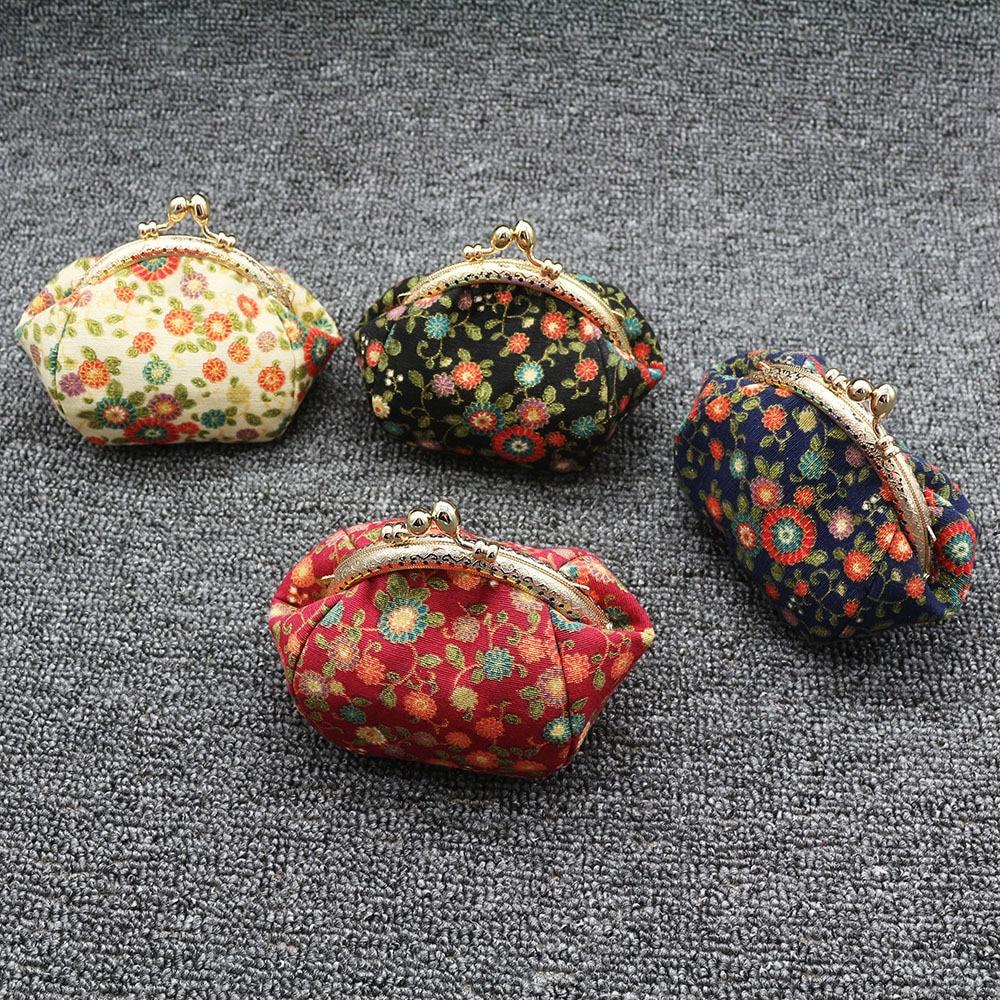 Mini Coin Purse Kiss Lock Girls  Change Purse Hasp Wallet women lady flower bags  (5)