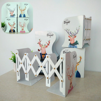 Hot Sell Cute Cartoon Decorative Bookends Metal Adjustable Book Holder Stable Book Stand Office Desk Organizer Shelf<br>