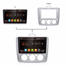 9 inch Quad Core Android 6.0 Car DVD Player GPS Navigation for Ford Focus 2 with Audio Radio Stereo Built-in WIFI(China)