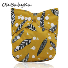 Ohbabyka Ifant Baby Cloth Diapers Size Adjustable Baby Shower Gifts Absorbent Pocket Diaper Boys Girls Couche Lavable Reusable