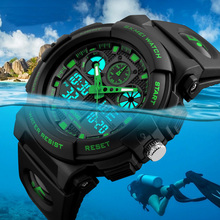 Fashion Waterproof Watches Men Sport Stopwatch Sleep Clock Bracelet Strap GMT Electronic Wristwatch for Cycling Running Swim Ski(China)