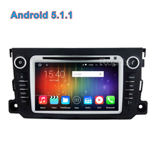 Quad core Android 5.1.1 Car DVD Player Radio GPS for Mercedes/Benz Smart Fortwo 2014 2013 2012 with Wifi Mirror-link BT