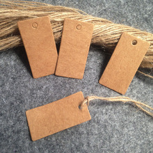 Wholesale DIY Kraft Tag 2x4cm  Wedding  Favour Tag Baking Label  DIY  Garment Tag Custom Logo Cost ExtraSwing Tag