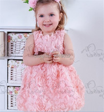 Girl Rosette Dress Children Princess Dress Easter Outfit Birthday Dress Girl Casual Dress