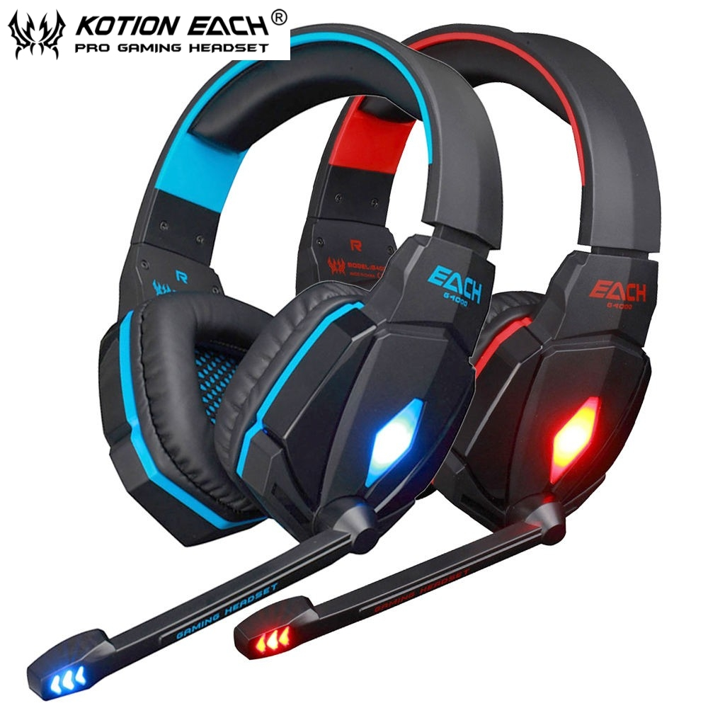 KOTION EACH G4000 Pro Game Gaming Headset USB LED Stereo Headset Gaming Headphones Earphone with Mic for PC PS4<br><br>Aliexpress