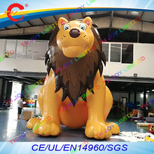 free air shipping to door,5m/16.5ft outdoor  giant inflatable lion animal model cartoon for zoon advertising