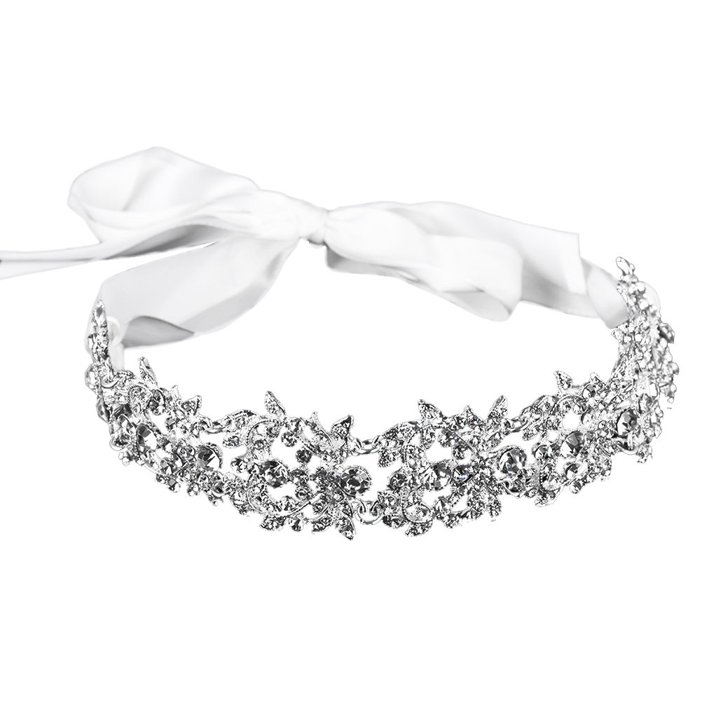 NEW Fancy Austrian Crystal High Quality Metal Bow Headband hair Accessories