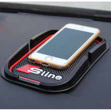Sline 3D Mat GPS Support Car Accessories Mobile Phone Anti Slip Pad For AUDI A1 A3 A4 A5 A6 A7 A8 R8 Q5 Q7 TT S line(China)