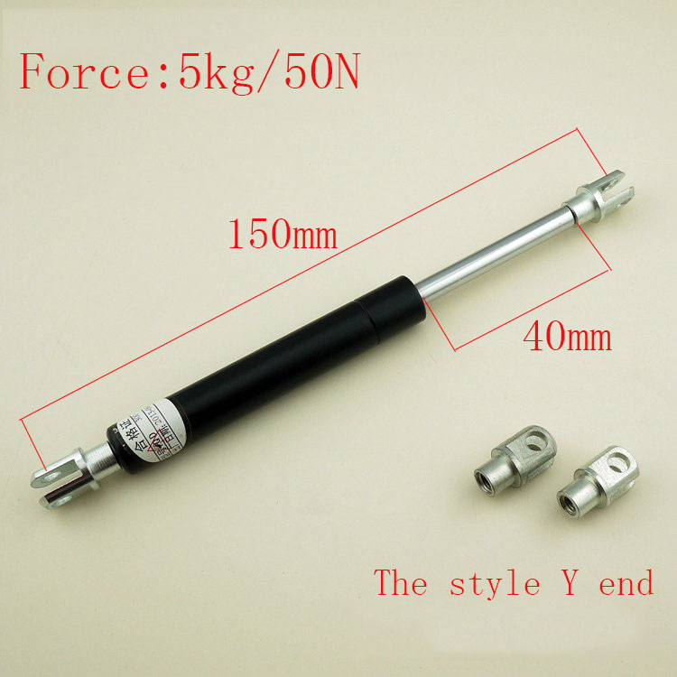 Free shipping  150mm central distance, 40 mm stroke, pneumatic Auto Gas Spring, Lift Prop Gas Spring Damper<br>