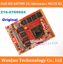 FreeShipping  Original for DELL ATI HD6870 Graphics Card 1G DDR5 216-0769024 for M15X M17X M18X R2 notebook WARRANTY 1 years