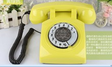 Fashion vintage antique telephone home phone old fashioned rotary telephone(China)