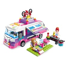 ENLIGHTEN City Girls Princess Outing Bus Car Building Blocks Sets Bricks Model Kids Gift Classic Toys Compatible Legoe Friends(China)