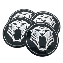 Tiger head Car Steering tire Wheel Center car sticker Hub Cap Emblem Badge Decals Symbol For Jaguar Hubcap Audi BMW Nissan Ford(China)