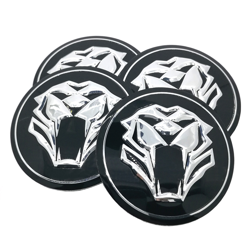 Tiger head Car Steering tire Wheel Center car sticker Hub Cap Emblem Badge Decals Symbol For Jaguar Hubcap Audi BMW Nissan Ford(China (Mainland))