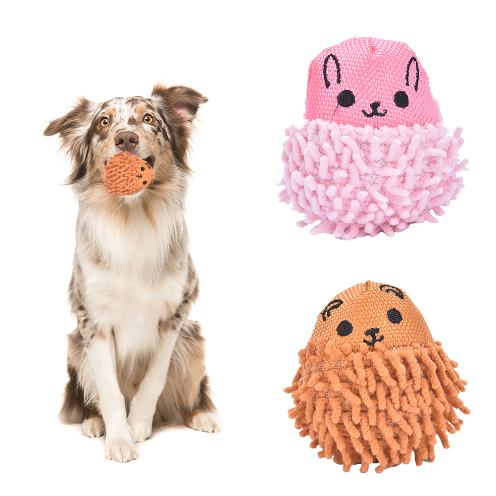 New 3.15*2.36 inch Sound Hedgehog Teeth Clean Chew Squeaker Squeaky Plush   Dog Play Toy Pet Puppy