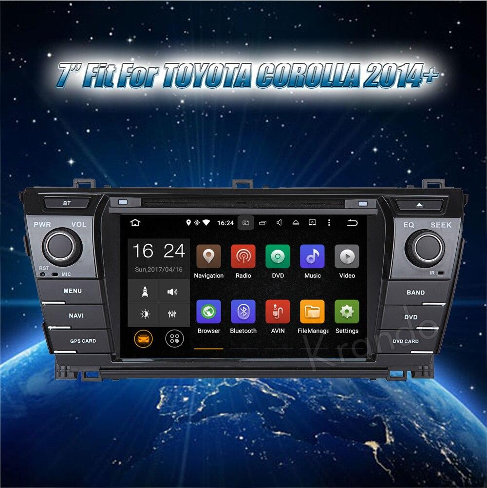 Krando toyota corolla Android car radio gps navigation multimedia system (2)